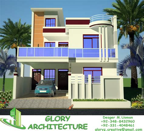 House Map Design 20 X 50 by 30x60 House Plan Elevation 3d View Drawings Pakistan