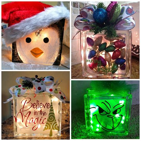christmas glass block craft ideas crafty morning