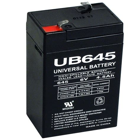 upg sla 6 volt f1 terminal agm battery ub645 the home depot