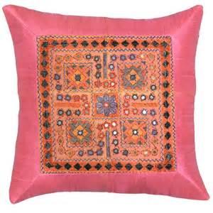 silk pink coral accent sofa pillows cushions