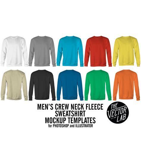 Men S Crew Neck Sweatshirt Mockup Templates Thevectorlab Crewneck Sweatshirt Template