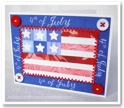 4th Of July Greeting Card Templates by 4th Of July Cards Quilt Flag Card