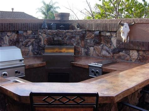 Concrete Countertops For Outdoor Kitchen by Outdoor Kitchen Custom Barbeque Seamless Venetian Style