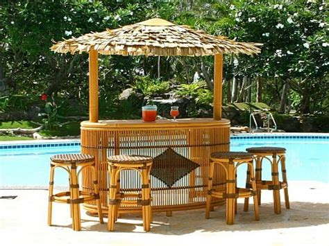 Outdoor Bars Furniture Tiki Bar Ideas Around Pool Outdoor Backyard Tiki Bar Ideas