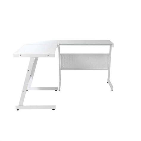 White Glass L Eurostyle Luigi L Desk In White White Glass