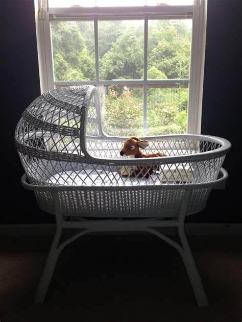 Antique Wicker Crib by Antique White Wicker Baby Bassinet Baby Beds