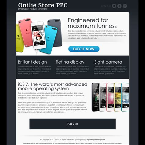 ppc landing page template ppc landing page design templates exle for best