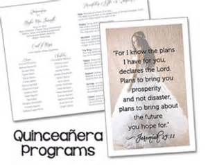 quinceanera program templates quinceanera invitations on etsy a global handmade and