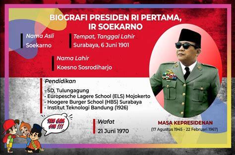 trans biografi presiden pertama indonesia ir soekarno