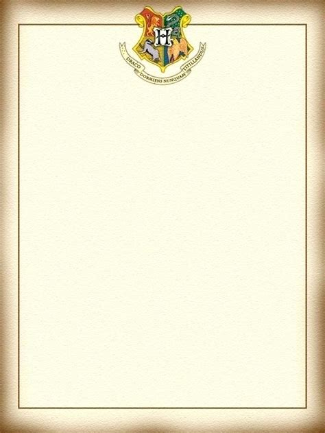 hogwarts certificate template harry potter letter template new hogwarts