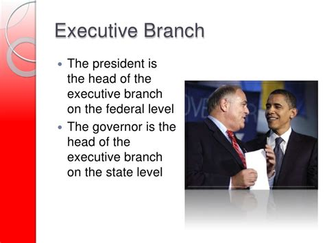 chap 13 the executive branch