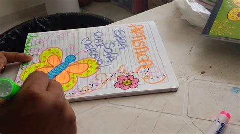 imagenes artisticas con autor y titulo c 243 mo marcar cuaderno de art 237 stica decorado con mariposita
