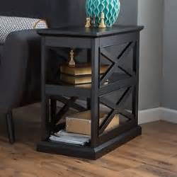 end side table living room furniture black wood x design