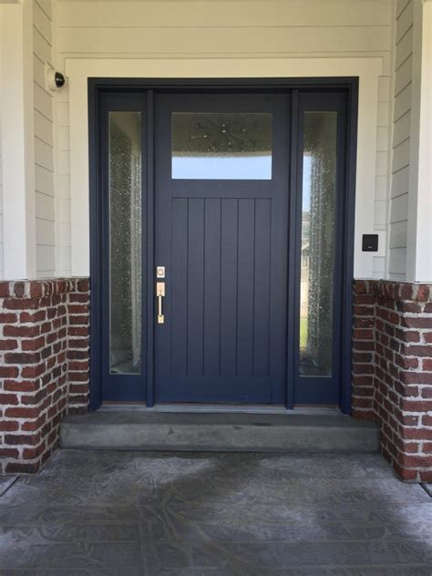 navy front door trend watch navy blue front doors hearth and home