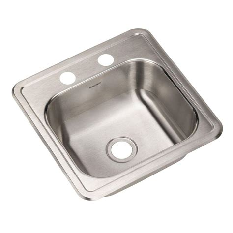 Stainless Steel Prep Sinks by Houzer Hospitality Series Drop In Stainless Steel 15 In 2