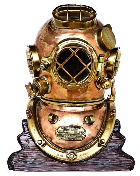 antique  vintage deep sea dive helmets land  sea