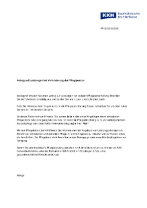 Vorlage Antrag Auf Unbezahlten Urlaub Antr 228 Ge Formulare Und Brosch 252 Ren Zum Thema Pflege Kkh Kaufm 228 Nnische Krankenkasse