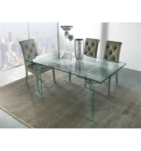 tavolo allungabile vetro trasparente tavolo vetro allungabile glass 676 la seggiola