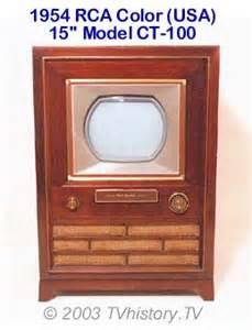 color tv history 1950 59 rca usa