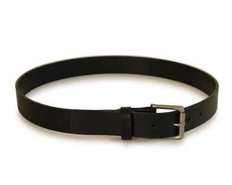Handmade Belts - mens handmade black leather belt basader
