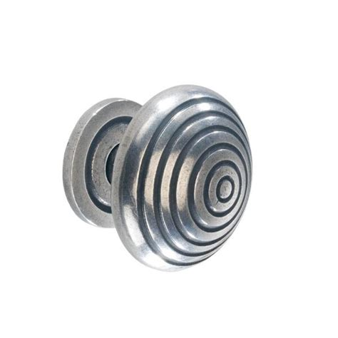 Knob With Backplate by Solid Pewter Knob With Backplate Lark Larks