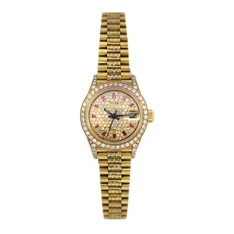 rolex 69178 president all and ruby gold