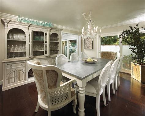 distressed dining room tables white dining table with distressed grey top for the home