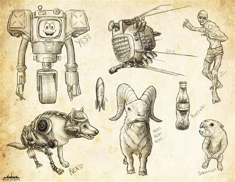 Fallout 4 Sketches by Fallout New Vegas Sketch Dump By Velocitti On Deviantart