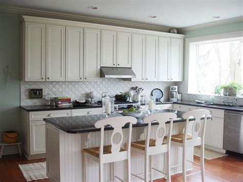 White Kitchen Island With Butcher Block Top by White Kitchen Backsplash Ideas Homesfeed