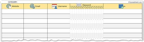 password manager spreadsheet template printable password log excel template spreadsheet1