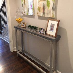 Front Hallway Table 17 Best Ideas About Narrow Console Table On Narrow Table Diy Sofa Table And Diy Table