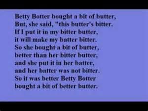 I Bought A Betty Botter