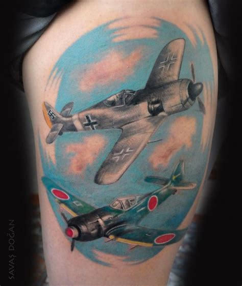 world war ii tattoo designs republic p 47 thunderbolt 80 cool airplane tattoos