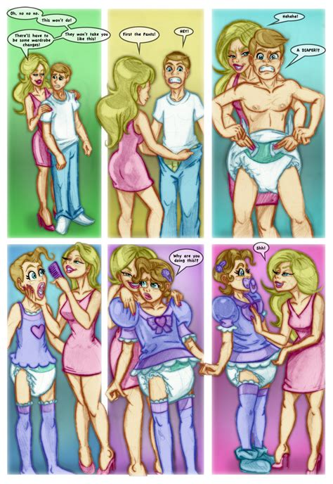 sissy comic sissy return pg2 by pink diapers on deviantart
