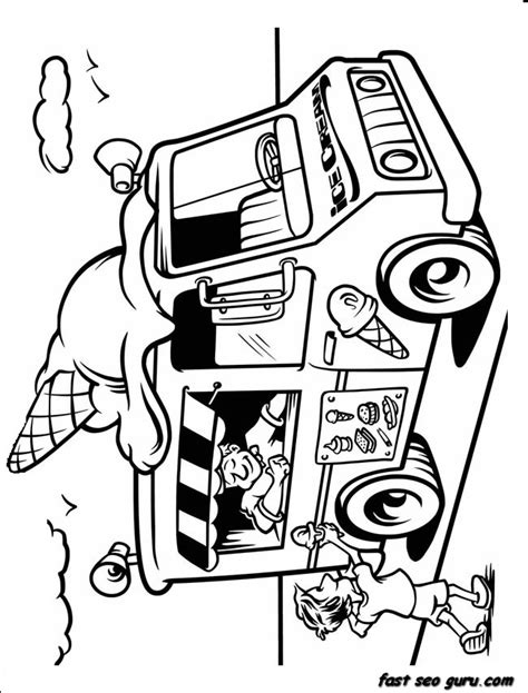 ice cream truck coloring page printable ice cream truck coloring in sheet