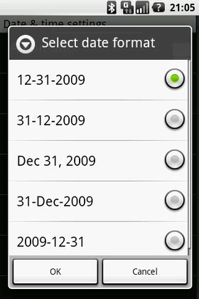 Android date format vs simpledateformatter