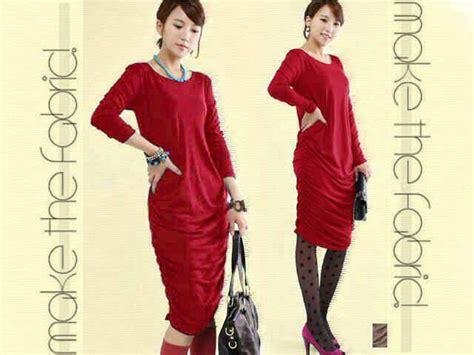 Baju Dress Murah Wanita Fahrani Dress baju dress wanita cantik merah model terbaru murah