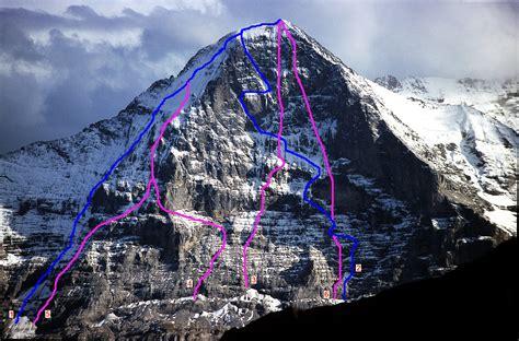 Hammock Eiger Type 23 5 file eiger nordwand routen 3060 jpg wikimedia commons