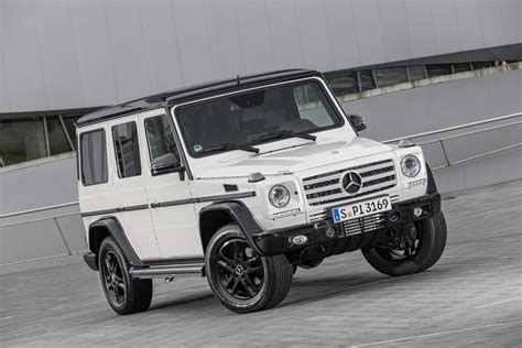 mercedes jeep 2015 black mercedes benz celebrates 35 years of the g class