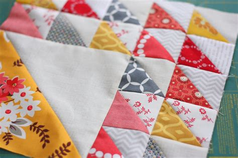 Quilting With Triangles by Half Square Triangle Cuts