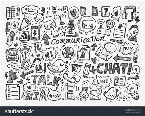 free vector doodle background doodle communication background vectores en stock