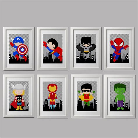 superhero bedrooms superhero nursery prints superhero bedroom by amyssimpledesigns casa pinterest