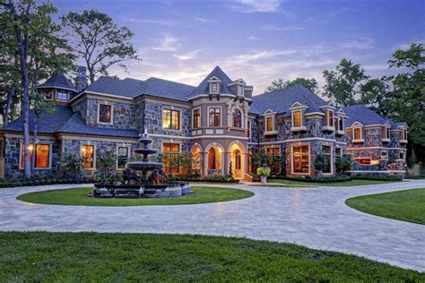 dreamhomes us 8 95 million newly built stone stucco mansion in