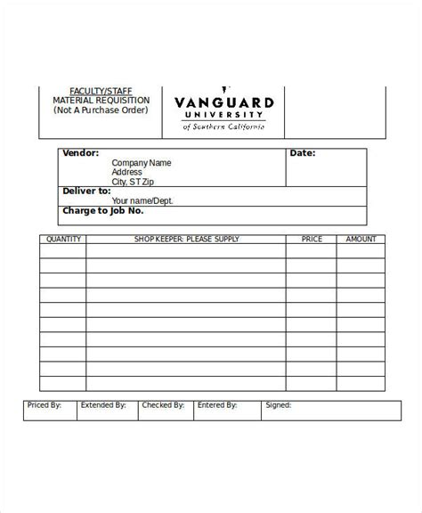 requisition form in doc sle material requisition form 11 free documents in