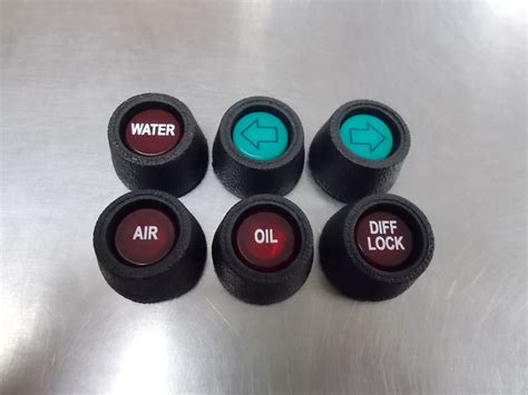 peterbilt dash indicator lights peterbilt dashboard indicator lenses with rubber grommets