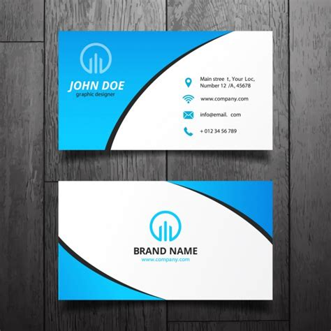 how to make a simple business card blue simple business card design vector free