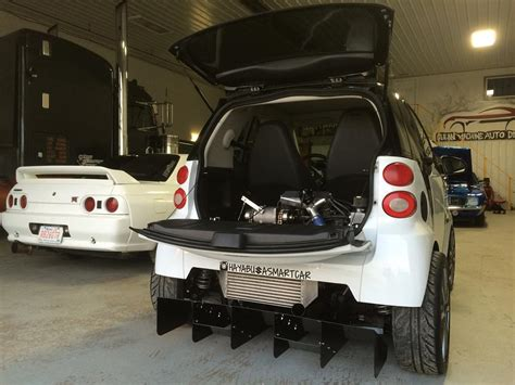 Moto Smart by Smart Fortwo With A Turbo Hayabusa Motor Engine Depot