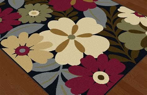 Modern Floral Area Rugs Multi Color Contemporary Floral Area Rug Leaves Fern Daisies Modern Carpet Ebay