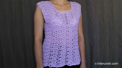 youtube blouse pattern japanese fan stitch women s top crochet pattern crochet