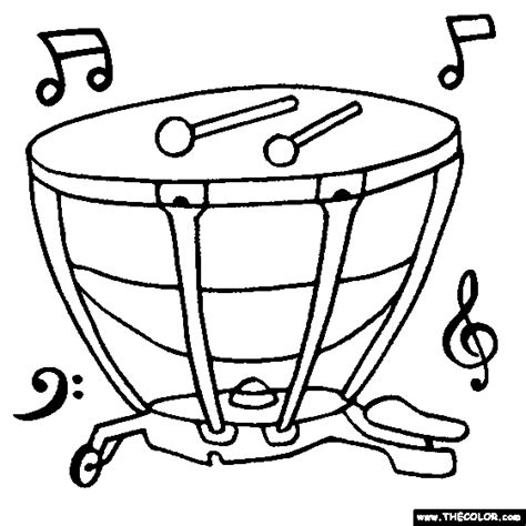 coloring pages percussion instruments timpani coloring page embroidery pinterest musical